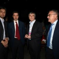 Foto Nicoloro G. 06/05/2014  Rimini   Si è aperto ufficialmente il 17° Congresso della CGIL. nella foto da sinistra il sindaco di Rimini Andrea Gnassi, il ministro Andrea Orlando, Vasco Errani e il prefetto Claudio Palomba.