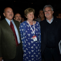 Foto Nicoloro G.  06/05/2014  Rimini   Si è aperto ufficialmente il 17° Congresso della CGIL. nella foto il segretario generale Susanna Camusso al centro tra Luigi Angeletti, a sinistra, e Raffaele Bonanni.