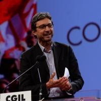 Foto Nicoloro G.  06/05/2014  Rimini   Si è aperto ufficialmente il 17° Congresso della CGIL. nella foto il sindaco di Rimini Andrea Gnassi.