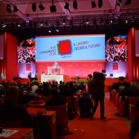 Foto Nicoloro G.  06/05/2014  Rimini   Si è aperto ufficialmente il 17° Congresso della CGIL. nella foto il salone durante l' intervento del segretario generale Susanna Camusso.