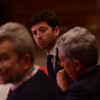 Foto Nicoloro G. 06/05/2014  Rimini   Si è aperto ufficialmente il 17° Congresso della CGIL. nella foto in prima fila il ministro Andrea Orlando.