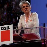 Foto Nicoloro G. 06/05/2014  Rimini   Si è aperto ufficialmente il 17° Congresso della CGIL. nella foto il segretario generale della Confederazione Europea dei Sindacati Bernadette Sègol.