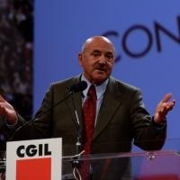 Foto Nicoloro G. 06/05/2014  Rimini   Si è aperto ufficialmente il 17° Congresso della CGIL. nella foto il segretario generale UIL Luigi Angeletti.