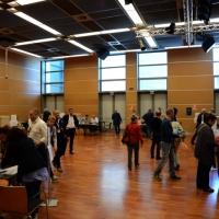 Foto Nicoloro G.  08/05/2014  Rimini  Terza e conclusiva giornata del 17° Congresso della CGIL. nella foto la sala dove i delegati votano per scegliere i candidati al direttivo nazionale.