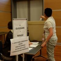 Foto Nicoloro G.  08/05/2014  Rimini  Terza e conclusiva giornata del 17° Congresso della CGIL. nella foto i delegati votano per scegliere i candidati al direttivo nazionale.