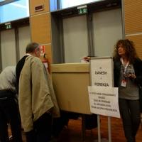 Foto Nicoloro G.  08/05/2014  Rimini  Terza e conclusiva giornata del 17° Congresso della CGIL. nella foto delegati al voto per l' elezione del Comitato Direttivo Nazionale.