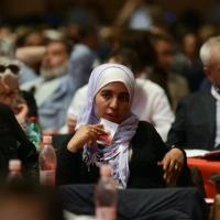 Foto Nicoloro G.  08/05/2014  Rimini  Terza e conclusiva giornata del 17° Congresso della CGIL. nella foto una delle delegate.