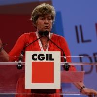 FFoto Nicoloro G.  08/05/2014  Rimini  Terza e conclusiva giornata del 17° Congresso della CGIL. nella foto Susanna Camusso durante il suo discorso di chiusura del Congresso.