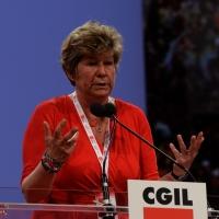 Foto Nicoloro G.  08/05/2014  Rimini  Terza e conclusiva giornata del 17° Congresso della CGIL. nella foto Susanna Camusso durante il suo discorso di chiusura del Congresso.