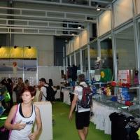 """Foto Nicoloro G.   30/05/2014   Rimini   Si è aperta la 9° edizione di """" Rimini Wellness """". nella foto uno stand."""