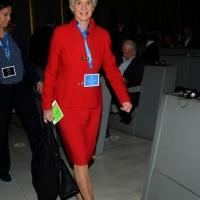 """Foto Nicoloro G.   14/11/2014   Milano     Sesta Conferenza Mondiale """" Science for Peace """" dal titolo """" Pace come condizione del benessere """". nella foto Kathleen Kennedy Townsend, vicepresidente di Science for Peace."""
