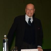 """Foto Nicoloro G.   14/11/2014   Milano     Sesta Conferenza Mondiale """" Science for Peace """" dal titolo """" Pace come condizione del benessere """". nella foto il professore Umberto Veronesi, presidente di Science for Peace."""