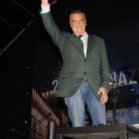 """Foto Nicoloro G. Milano 28/09/2010 Seconda Festa Nazionale della Liberta' al castello Sforzesco e dibattito sul tema """" PdL- Lega: il valore di un' alleanza """". nella foto Roberto Calderoli"""