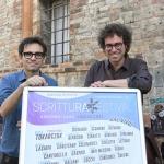 01/07/2021   Ravenna   Serata inaugurale dell' ottava edizione di ' Scrittura Festival '. nella foto a sinistra lo scrittore Nicola Lagioia, direttore del Salone Internazionale del Libro di Torino, e Matteo Cavezzali, direttore di Scrittura Festival.