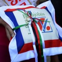 """Foto Nicoloro G.  01/06/2014  Cervia ( Ravenna )  570° edizione dello """" Sposalizio del Mare """". nella foto  l' anello che sarà lanciato in mare dall' arcivescovo."""