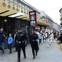 """Foto Nicoloro G.   03/05/2015  Milano   Si è svolto lo """" Star Wars Day """" che ha richiamato una moltitudine di appassionati della saga cinematografica di fantascienza di Star Wars."""
