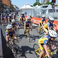 Foto Nicoloro G. 19/05/2011 Ravenna Dodicesima tappa del Giro d' Italia Castelfidardo-Ravenna di 184 Km. nella foto Giovani ciclisti prima dell'arrivo della tappa