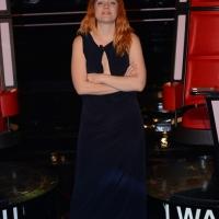 """Foto Nicoloro G.  10/03/2014  Milano   Presentazione della seconda edizione della trasmissione di Rai 2 """" The Voice of Italy """". nella foto la cantante Noemi."""