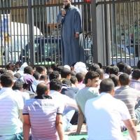 Foto Nicoloro G.  10/09/2010  Milano Primo venerdì di preghiera per la comunità islamica dopo la fine del Ramadan. nella foto L'Imam parla alla comunità