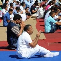 Foto Nicoloro G.  10/09/2010  Milano Primo venerdì di preghiera per la comunità islamica dopo la fine del Ramadan. nella foto Membri della comunità in preghiera