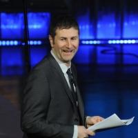 """Foto Nicoloro G. 23/01/2012 Milano Trasmissione televisiva su Rai3 """" Che tempo che fa """" condotta da Fabio Fazio. nella foto Fabio Fazio"""