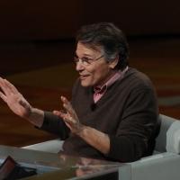 """Foto Nicoloro G. 29/01/2012 Milano Trasmissione televisiva su Rai3 """" Che tempo che fa """" condotta da Fabio Fazio. nella foto Daniel Pennac"""