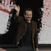 """Foto Nicoloro G. 29/01/2012 Milano Trasmissione televisiva su Rai3 """" Che tempo che fa """" condotta da Fabio Fazio. nella foto Rocco Papaleo"""