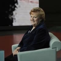 """Foto Nicoloro G. 29/01/2012 Milano Trasmissione televisiva su Rai3 """" Che tempo che fa """" condotta da Fabio Fazio. nella foto Anna Maria Cancellieri"""