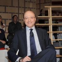 """Foto Nicoloro G. 28/01/2011 Milano Trasmissione televisiva di Rai2 """" L' ultima parola """" condotta da Gianluigi Paragone. nella foto Massimo Corsaro"""