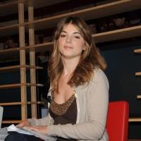 """Foto Nicoloro G. 28/01/2011 Milano Trasmissione televisiva di Rai2 """" L' ultima parola """" condotta da Gianluigi Paragone. nella foto Giulia Innocenzi"""