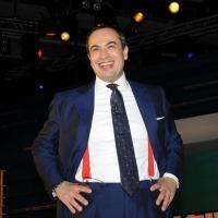 """Foto Nicoloro G. 28/01/2011 Milano Trasmissione televisiva di Rai2 """" L' ultima parola """" condotta da Gianluigi Paragone. nella foto Gianluigi Paragone"""