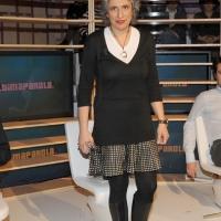 """Foto Nicoloro G. 28/01/2011 Milano Trasmissione televisiva di Rai2 """" L' ultima parola """" condotta da Gianluigi Paragone. nella foto Paola Concia"""