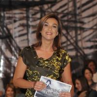 """Foto Nicoloro G. 01/10/2010 Milano, Puntata della trasmissione """" Invasioni barbariche """"  su La7 e condotta da Daria Bignardi. nella foto Daria Bignardi"""
