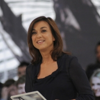 """Foto Nicoloro G. 04/03/2011 Milano Trasmissione televisiva su La7 """" Invasioni barbariche """" condotta da Daria Bignardi. nella foto Daria Bignardi"""