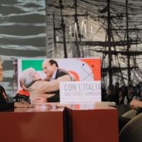 """Foto Nicoloro G. 04/03/2011 Milano Trasmissione televisiva su La7 """" Invasioni barbariche """" condotta da Daria Bignardi. nella foto Rosy Bindi – Daria Bignardi"""