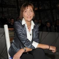 """Foto Nicoloro G. 04/03/2011 Milano Trasmissione televisiva su La7 """" Invasioni barbariche """" condotta da Daria Bignardi. nella foto Flavia Perina"""