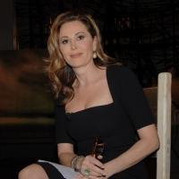 """Foto Nicoloro G. 04/03/2011 Milano Trasmissione televisiva su La7 """" Invasioni barbariche """" condotta da Daria Bignardi. nella foto Daniela Santanchè"""