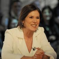 """Foto Nicoloro G. 08/04/2011 Milano Trasmissione televisiva su La7 """" Invasioni barbariche """" condotta da Daria Bignardi. nella foto Bianca Berlinguer"""
