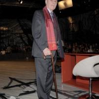 """Foto Nicoloro G. 08/04/2011 Milano Trasmissione televisiva su La7 """" Invasioni barbariche """" condotta da Daria Bignardi. nella foto Antonio Pennacchi"""