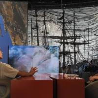 """Foto Nicoloro G. 08/04/2011 Milano Trasmissione televisiva su La7 """" Invasioni barbariche """" condotta da Daria Bignardi. nella foto Maurizio Zanolla/Manolo – Daria Bignardi"""