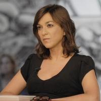 """Foto Nicoloro G. 08/04/2011 Milano Trasmissione televisiva su La7 """" Invasioni barbariche """" condotta da Daria Bignardi. nella foto Daria Bignardi"""