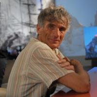 """Foto Nicoloro G. 08/04/2011 Milano Trasmissione televisiva su La7 """" Invasioni barbariche """" condotta da Daria Bignardi. nella foto Maurizio Zanolla/Manolo"""