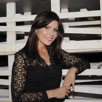 """Foto Nicoloro G. 08/04/2011 Milano Trasmissione televisiva su La7 """" Invasioni barbariche """" condotta da Daria Bignardi. nella foto Barbara Serra"""