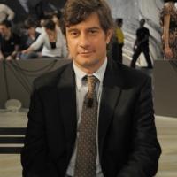 """Foto Nicoloro G. 08/04/2011 Milano Trasmissione televisiva su La7 """" Invasioni barbariche """" condotta da Daria Bignardi. nella foto Stefano Zurlo"""