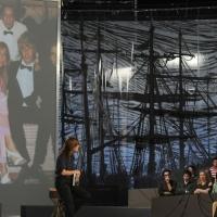"""Foto Nicoloro G. 10/12/2010 Milano, Puntata della trasmissione """" Invasioni barbariche """"  su La7 e condotta da Daria Bignardi. nella foto Daria Bignardi  – Daniela Zuccoli"""