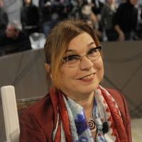 """Foto Nicoloro G. 10/12/2010 Milano, Puntata della trasmissione """" Invasioni barbariche """"  su La7 e condotta da Daria Bignardi. nella foto Susy Blady"""