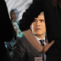 """Foto Nicoloro G. 11/02/2011 Milano Trasmissione televisiva su La7 """" Invasioni barbariche """" condotta da Daria Bignardi. nella foto Pier Ferdinando Casini"""