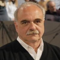 """Foto Nicoloro G. 11/02/2011 Milano Trasmissione televisiva su La7 """" Invasioni barbariche """" condotta da Daria Bignardi. nella foto Franco Pagetti"""