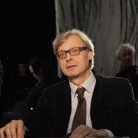 """Foto Nicoloro G. 12/11/2010 Milano, Trasmissione televisiva """"Le Invasioni barbariche"""" in programmazione su La7 e condotta da Daria Bignardi. nella foto Vittorio Sgarbi"""