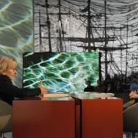 """Foto Nicoloro G. Milano 17/12/2010 Ultima puntata dell' edizione 2010 della trasmissione su La7 """" Invasioni barbariche """". nella foto Emma Bonino – Daria Bignardi"""
